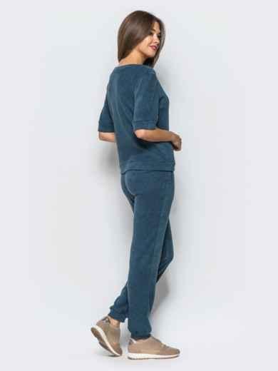 Комплект-тройка с удлиненным кардиганом синий - 17012, фото 3 – интернет-магазин Dressa