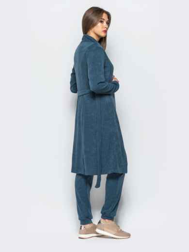 Комплект-тройка с удлиненным кардиганом синий - 17012, фото 5 – интернет-магазин Dressa