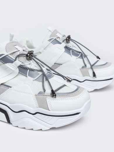 Кроссовки на толстой подошве белые - 47510, фото 3 – интернет-магазин Dressa
