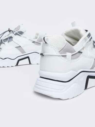 Кроссовки на толстой подошве белые - 47510, фото 4 – интернет-магазин Dressa