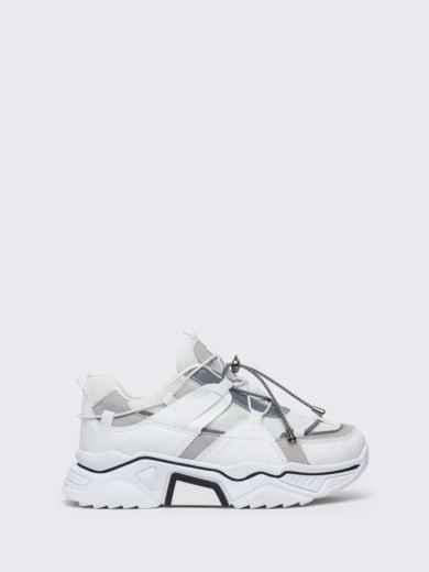Кроссовки на толстой подошве белые - 47510, фото 5 – интернет-магазин Dressa