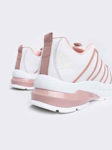 Белые кроссовки из искусственного материала - 45979, фото 5 – интернет-магазин Dressa