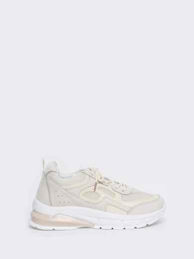 Бежевые кроссовки из искусственной кожи 45980, фото 4