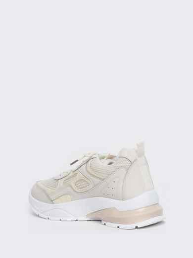 Бежевые кроссовки из искусственной кожи 45980, фото 5