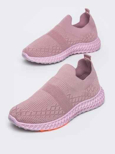 Кроссовки из текстиля розового цвета - 45976, фото 2 – интернет-магазин Dressa