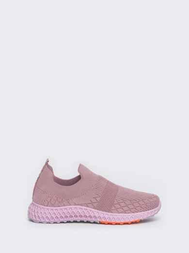 Кроссовки из текстиля розового цвета - 45976, фото 3 – интернет-магазин Dressa