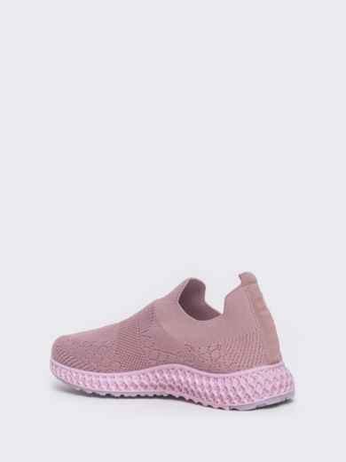 Кроссовки из текстиля розового цвета - 45976, фото 4 – интернет-магазин Dressa