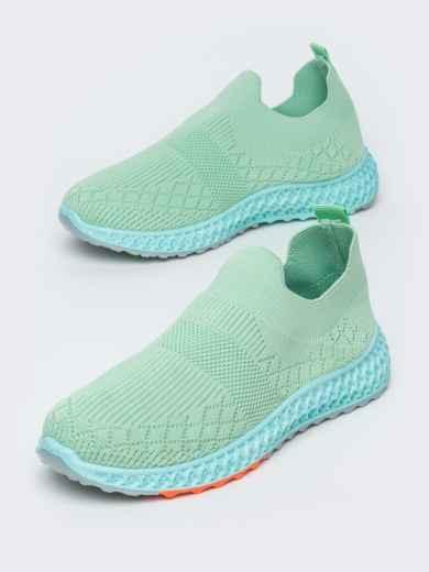 Кроссовки из текстиля зеленого цвета 45977, фото 2