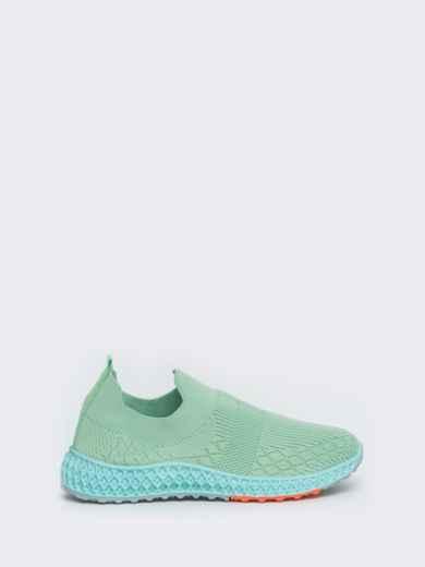 Кроссовки из текстиля зеленого цвета 45977, фото 3