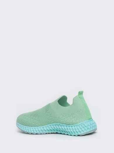 Кроссовки из текстиля зеленого цвета 45977, фото 4