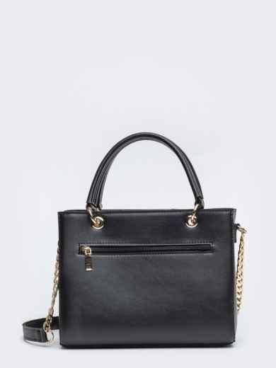 Чёрная сумка-тоут с контрастными вставками - 20555, фото 4 – интернет-магазин Dressa