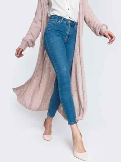 Укороченные джинсы-скинни голубого цвет 45477, фото 2