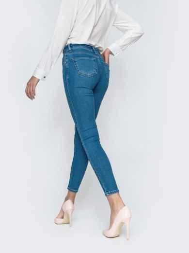 Укороченные джинсы-скинни голубого цвет 45477, фото 3