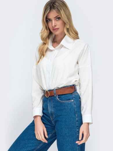 Блузка свободного кроя белая 45572, фото 2