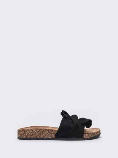 Чёрные шлепанцы с узлом - 47531, фото 3 – интернет-магазин Dressa