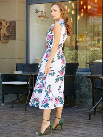 Платье-миди с цветочным принтом - 11628, фото 5 – интернет-магазин Dressa
