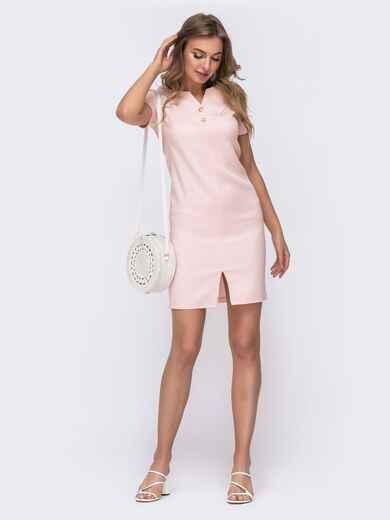 Розовое платье приталенного силуэта 47069, фото 1