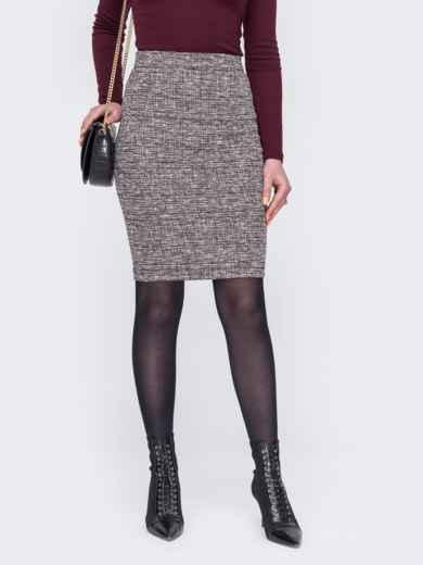 Пудровая юбка-карандаш 52980, фото 1