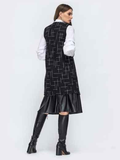 Чёрный жилет из букле с принтом - 45275, фото 3 – интернет-магазин Dressa