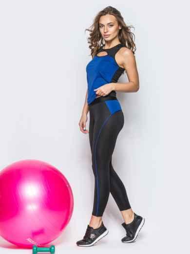 Комплект для фитнеса с вырезом на майке - 12802, фото 3 – интернет-магазин Dressa