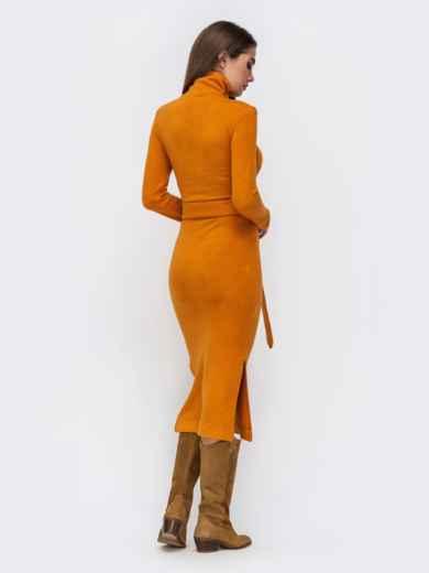 Платье-гольф терракотового цвета из мягкой ангоры - 41734, фото 4 – интернет-магазин Dressa
