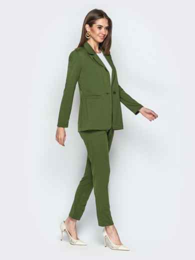 Комплект с брюками на резинке хаки - 20839, фото 2 – интернет-магазин Dressa