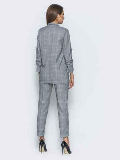 Комплект в клетку с карманами на жакете - 14495, фото 3 – интернет-магазин Dressa