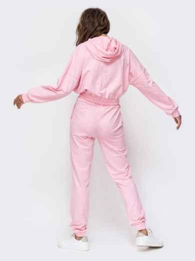 Спортивный комплект с капюшоном розового цвета  49355, фото 3