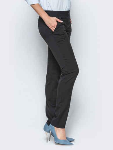 Черные брюки с двойными шлёвками для пояса 16494, фото 1
