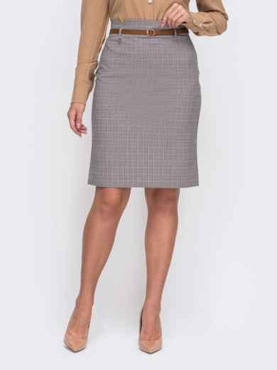 Серая юбка-карандаш большого размера 50807, фото 1