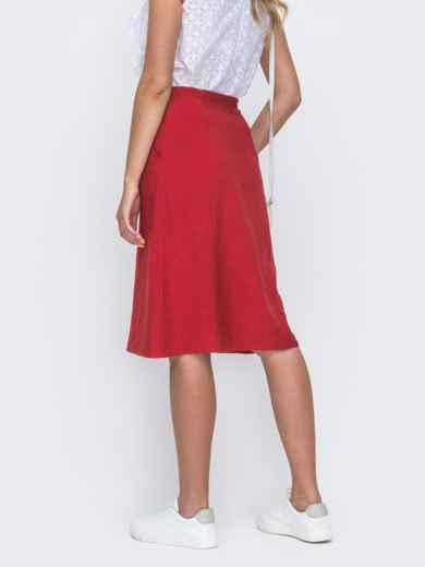 Красная юбка-трапеция на молнии 49365, фото 2