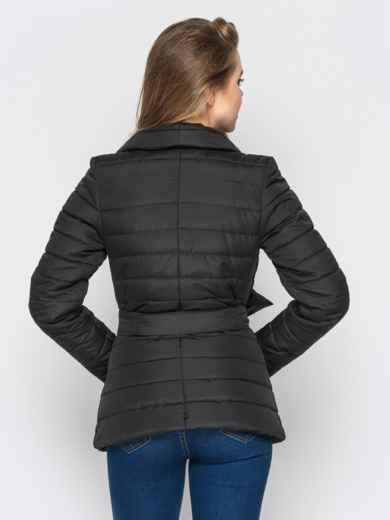 Черная куртка с потайными кнопками на полочке - 12942, фото 3 – интернет-магазин Dressa