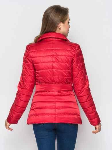 Красная куртка с потайными кнопками на полочке - 12944, фото 3 – интернет-магазин Dressa