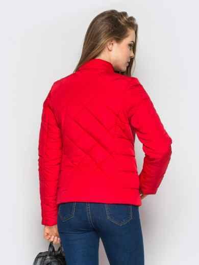 Красная куртка с воротником на кнопке - 12934, фото 3 – интернет-магазин Dressa