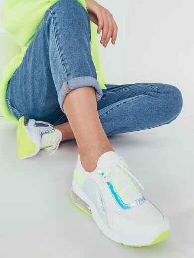 Кроссовки белого цвета с контрастными вставками 51420, фото 1