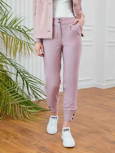 Розовые брюки с завышенной талией 53551, фото 1
