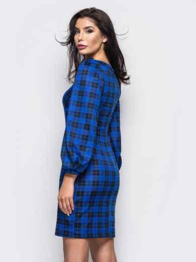 синее платье с удобными карманами на полочке 35563, фото 2