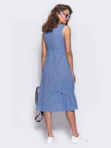 Хлопковое платье в голубую клетку - 11471, фото 5 – интернет-магазин Dressa