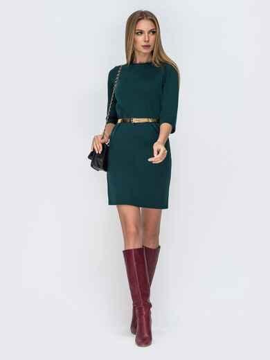 Приталенное платье зелёного цвета с вырезом по спинке 42432, фото 1