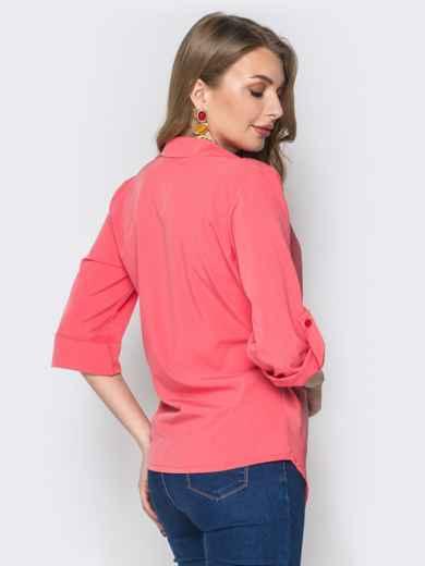 2a09ff7343d Розовая блузка с запахом и асимметричным низом 19390 – купить в ...