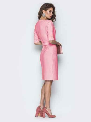Платье из люрекса с цельнокроеным рукавом розовое 42758, фото 3