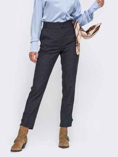 Зауженные брюки графитового цвета 50572, фото 1