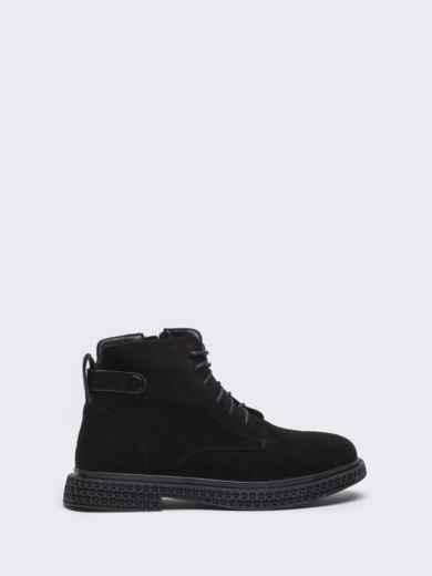 Демисезонные ботинки черного цвета с рифленой подошвой 50460, фото 3