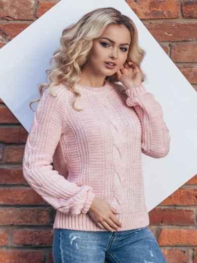 Розовый джемпер с длинным рукавом реглан - 15800, фото 2 – интернет-магазин Dressa