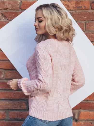 Розовый джемпер с длинным рукавом реглан - 15800, фото 3 – интернет-магазин Dressa