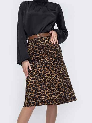 Юбка-трапеция с леопардовым принтом 45887, фото 1