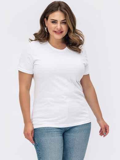 Белая базовая футболка прямого кроя 54108, фото 1