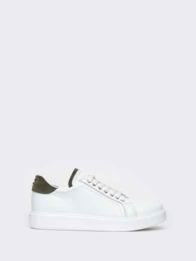 Низкие кеды с контрастными вставками белые - 21424, фото 5 – интернет-магазин Dressa