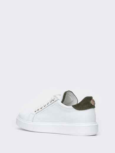 Низкие кеды с контрастными вставками белые - 21424, фото 6 – интернет-магазин Dressa