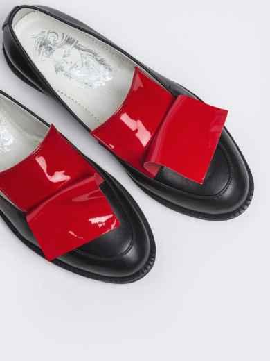 Чёрные туфли на плоской подошве 47515, фото 3